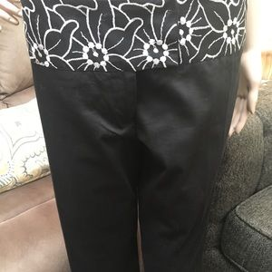 Dressy embroidered capri pants